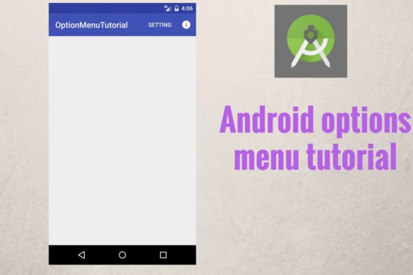 Option Menu-Android